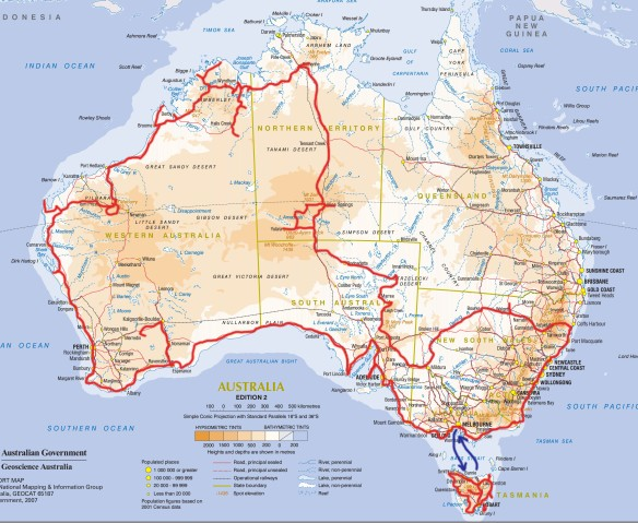 A4 Australia Report map Edn2